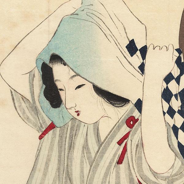 Hidden in Deep Mountains Kuchi-e Print, 1900 by Tomioka Eisen (1864 - 1905)