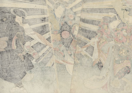 Magic Fox and Struggle over a Banner by Toyokuni III/Kunisada (1786 - 1864)