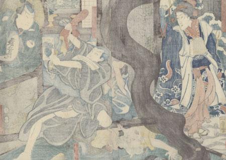 Monk Wielding a Sword, 1854 by Kuniyoshi (1797 - 1861)