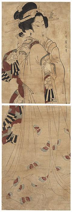 Beauty with a Doll Kakemono by Eizan (1787 - 1867)