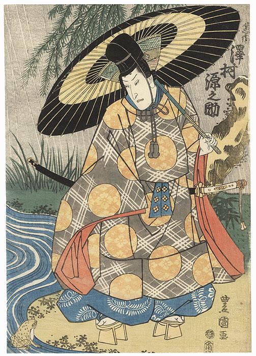 Sawamura Gennosuke as Ono no Tofu by Toyokuni I (1769 - 1825)