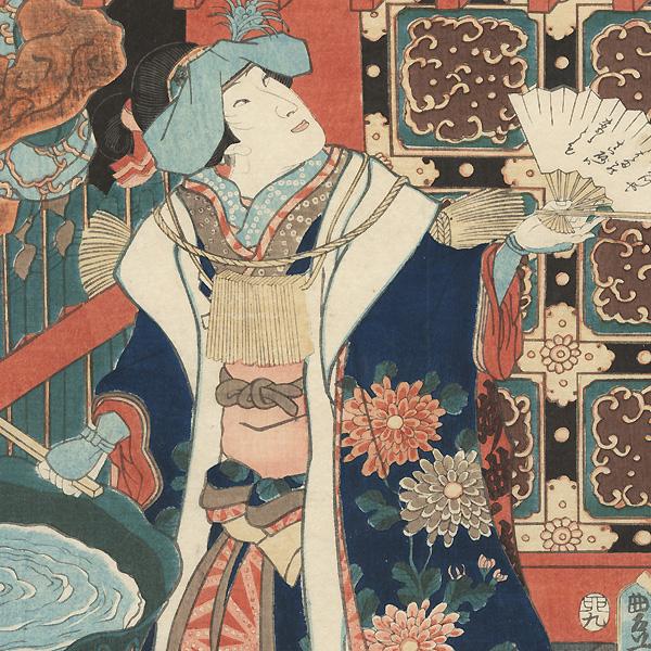 Ishikawa Goemon at Nazenji Temple Kakemono, 1855 by Toyokuni III/Kunisada (1786 - 1864)