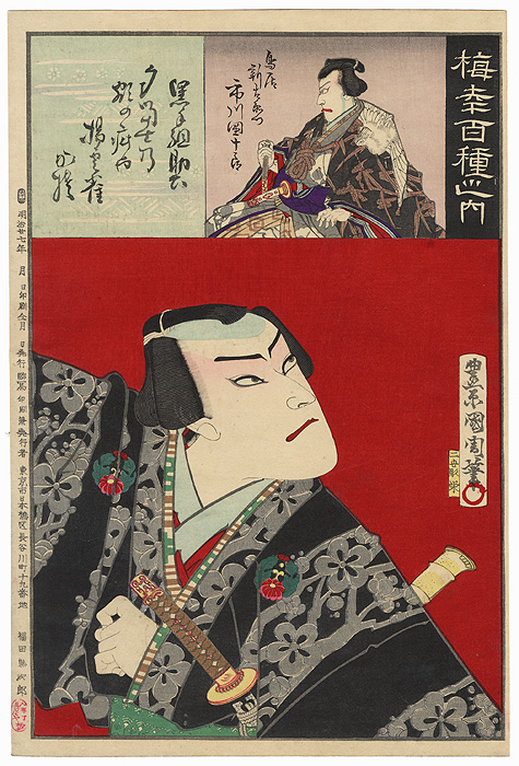 Onoe Kikugoro V as an Otokodate, 1894 by Kunichika (1835 - 1900)