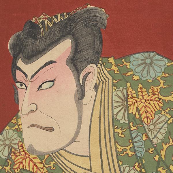 Onoe Kikugoro V as Lord Moronao and Nakamura Shikan as Lord Enya Hangan, 1893 by Kunichika (1835 - 1900)