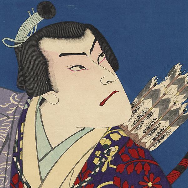 Onoe Kikugoro V as Soga Juro and Ichikawa Danjuro IX as Kudo Suketsune, 1893 by Kunichika (1835 - 1900)