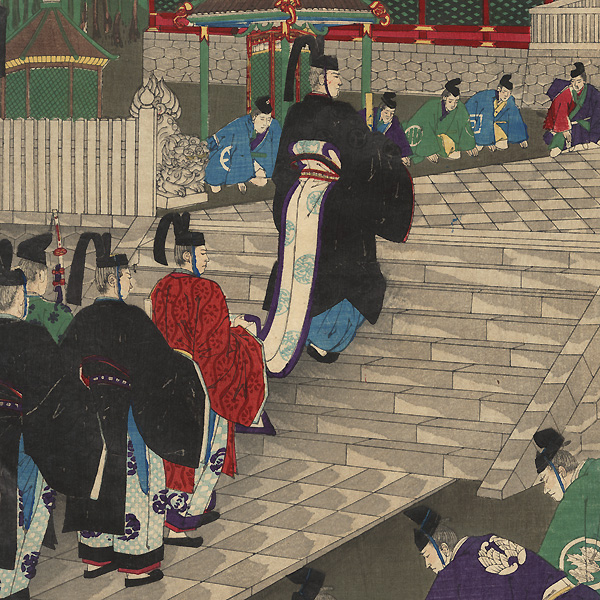 The Household of the Shogun Visiting the Shrine at Nikko, 1889 by Shogetsu (active circa 1880 - 1890)