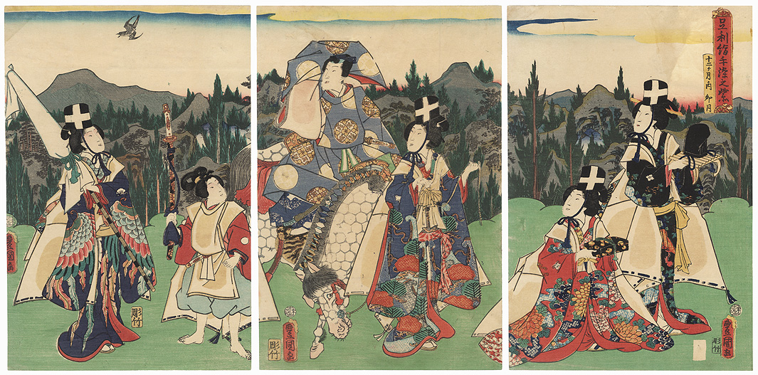 The Fourth Month, 1859 by Toyokuni III/Kunisada