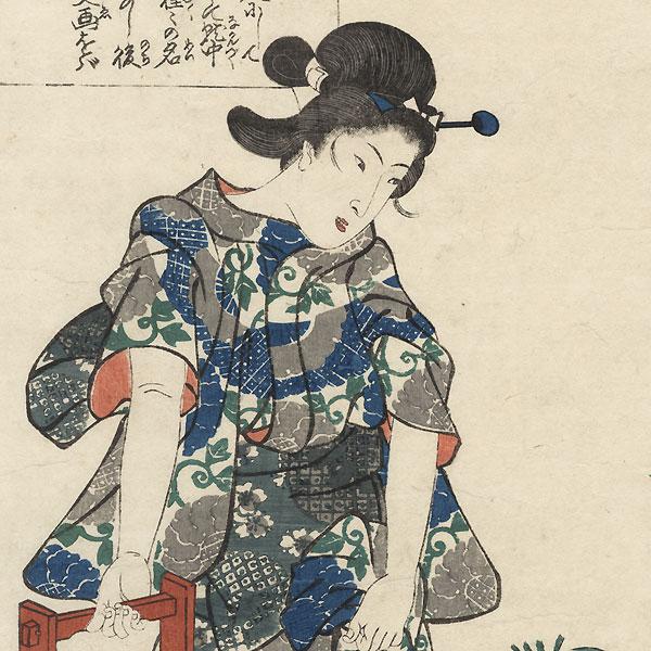 Kaga no Chiyo by Kuniyoshi (1797 - 1861)