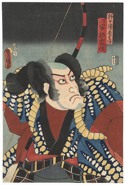 Soto-ga-Hama Nambei, actually Abe Muneto, 1852 by Toyokuni III/Kunisada (1786 - 1864)