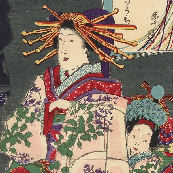 August by Yoshiiku (1833 - 1904)