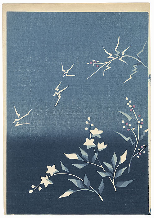 Blossoms and Blue Sky by Shin-hanga & Modern artist (unsigned)