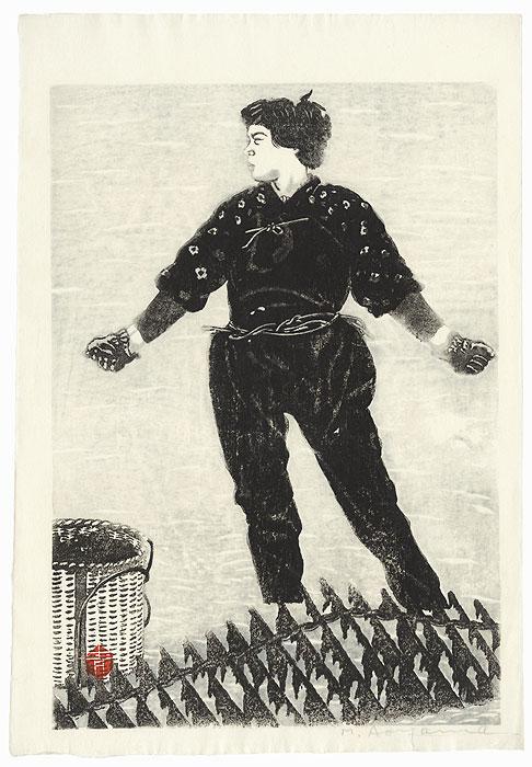 Woman Gathering Shellfish by Aoyama Masaharu (1893 - 1969)