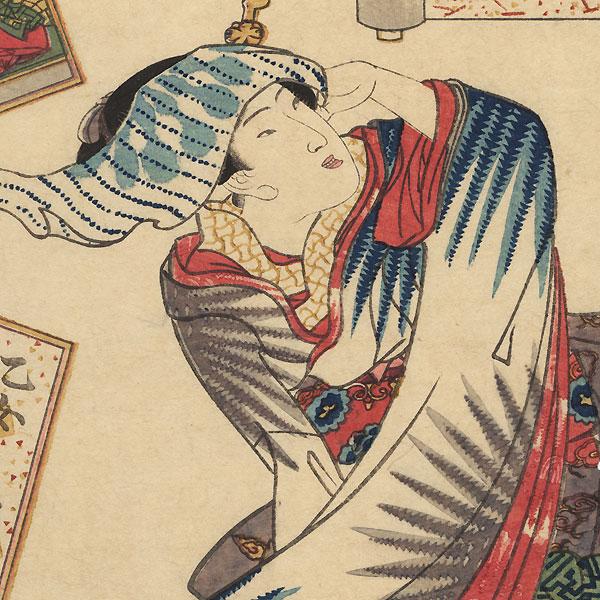 Sojo Henjo, Poet No. 12 by Toyokuni III/Kunisada (1786 - 1864)