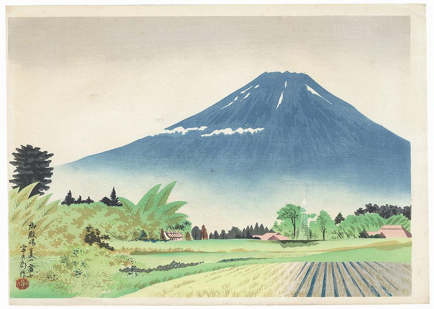 Mt Fuji from Gotenba in Summer by Tokuriki (1902 - 1999)