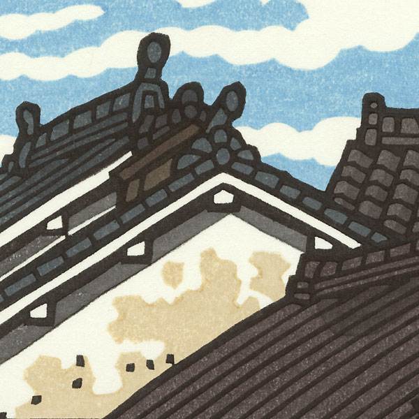 Rooftops and Clouds by Nishijima (born 1945)