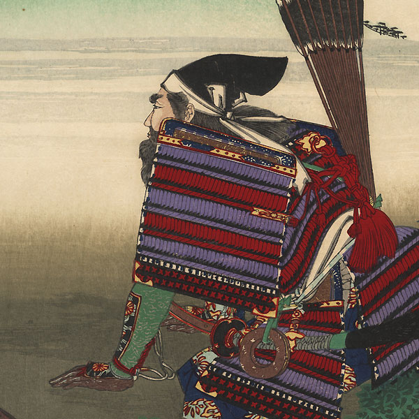 From the Tale of Kusunoki Masashige, 1885 by Toshikata (1866 - 1908)