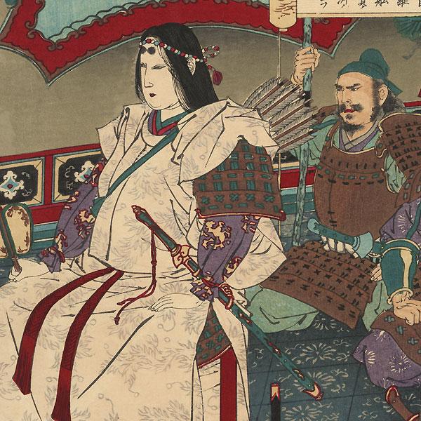 Empress Jingu in Korea by Toshikata (1866 - 1908)