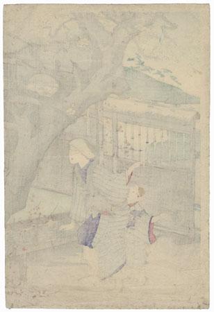 The Plum Tree, Oshuku, 1891 by Chikanobu (1838 - 1912)