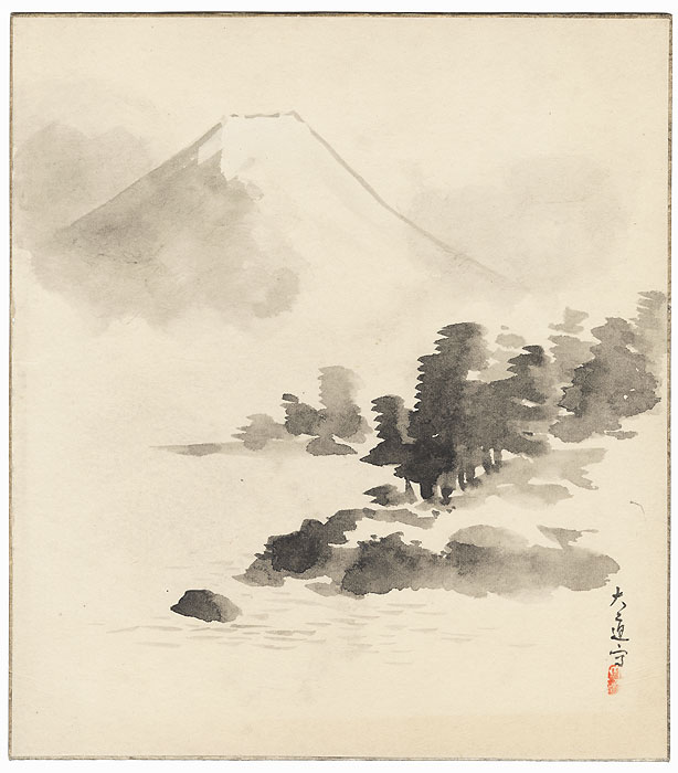 View of Mt. Fuji by Shin-hanga and Modern artist (not read)