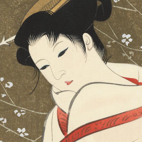 White Plum by Iwata Sentaro (1901 - 1974)