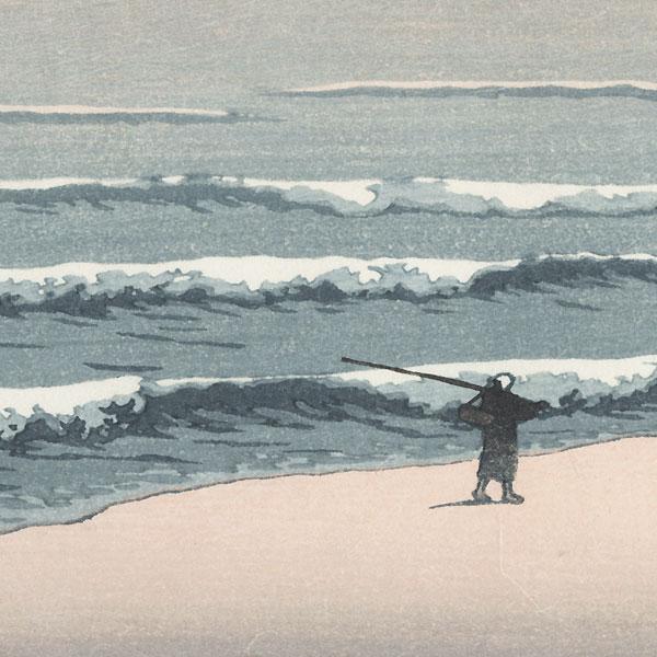 Shichirigahama by Hasui (1883 - 1957)