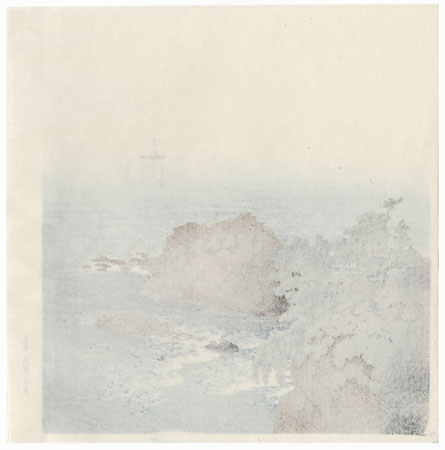 Nishikiura Beach, Atami by Hasui (1883 - 1957)