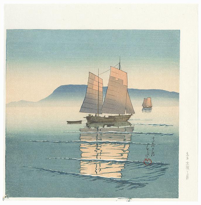Morning at Takamatsu by Hasui (1883 - 1957)