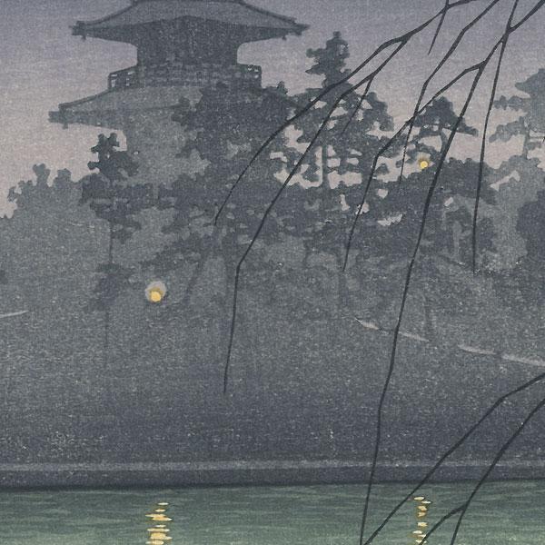 Sarusawa Pond, Nara by Hasui (1883 - 1957)