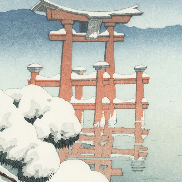 Clearing after a Snow, Miyajima by Hasui (1883 - 1957)