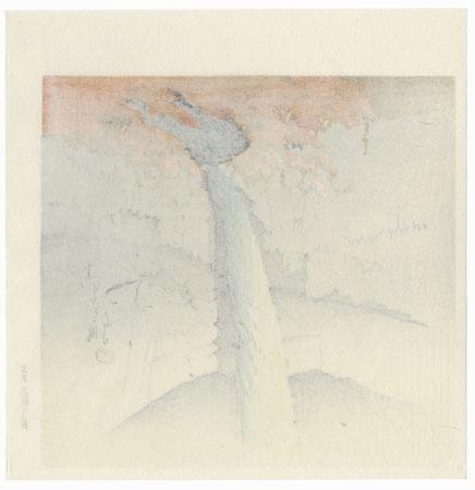 Kegon Falls, Nikko by Hasui (1883 - 1957)