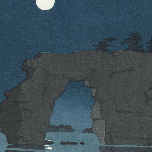 Moon at Matsushima by Hasui (1883 - 1957)