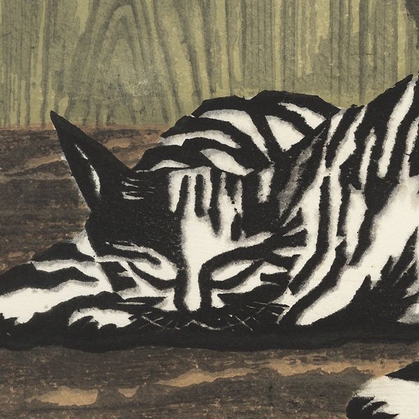 Cat and Dried Persimmons, 1960 by Yamaguchi Susumu (1897 - 1983)