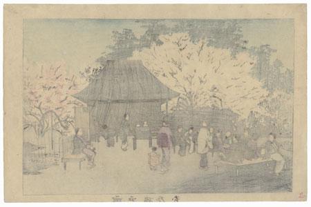 Plum Garden at Kameido by Kiyochika (1847 - 1915)