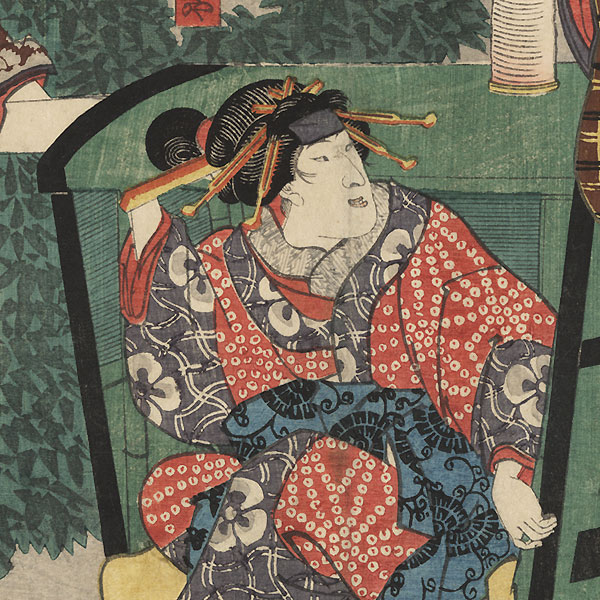 Yohei and the Palanquin, 1848 by Kuniyoshi (1797 - 1861)