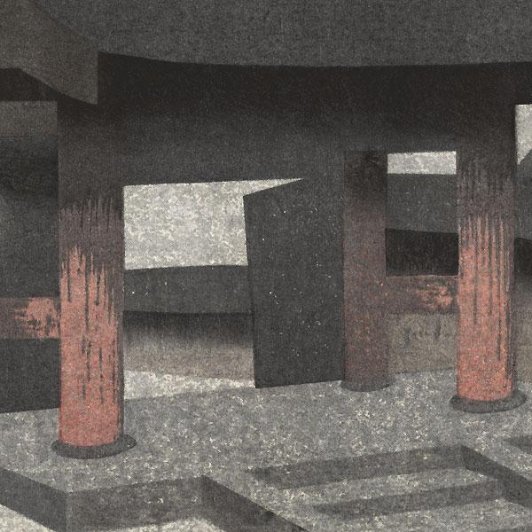 Temple Entrance by Kiyoshi Saito (1907 - 1997)