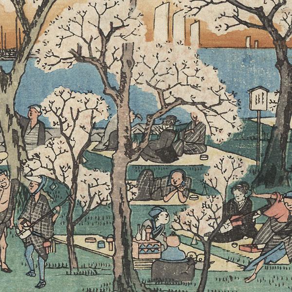 Amusements at Goten-yama, circa 1832 - 1834 by Hiroshige (1797 - 1858)