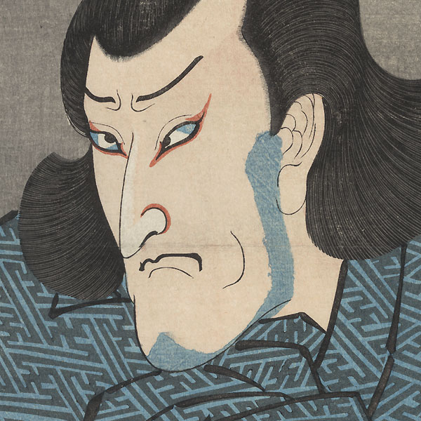 Seki Sanjuro III as Konishi Zesai, 1840 by Kuniyoshi (1797 - 1861)