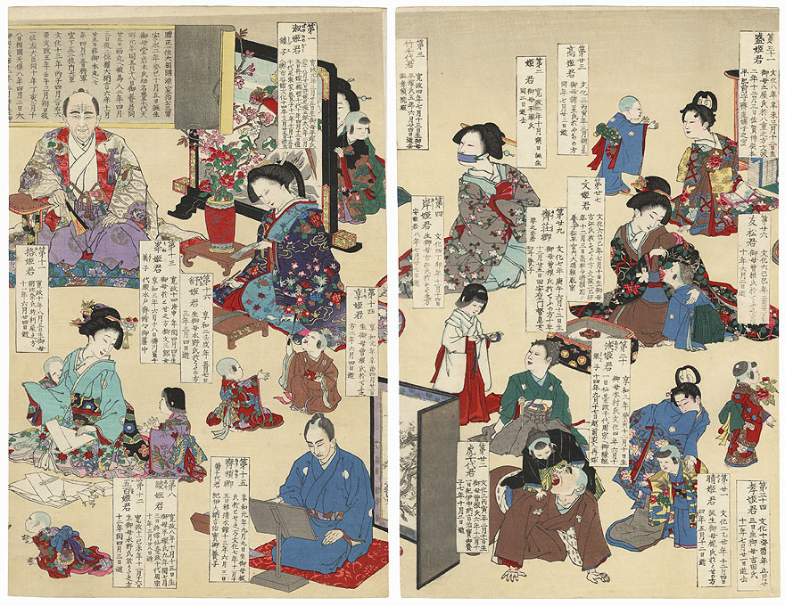 The Highest Level of Virtue, 1887 by Meiji era artist (unsigned)