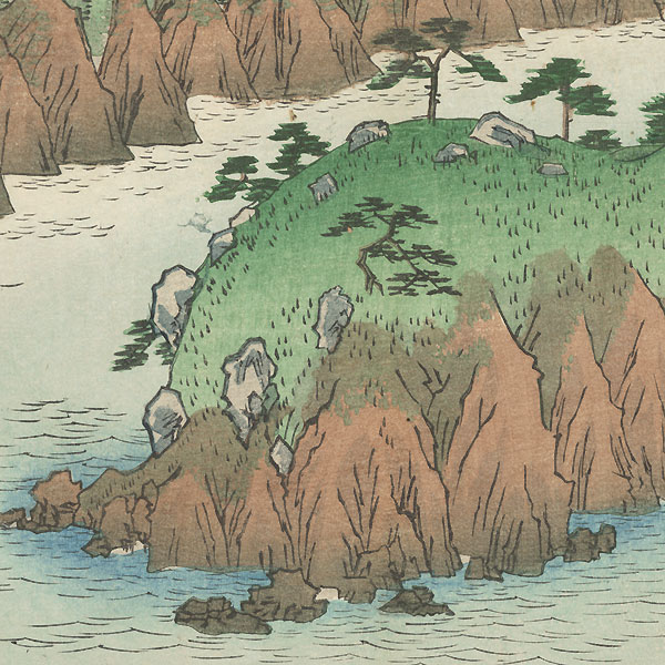 Lake at Hakone by Hiroshige (1797 - 1858)
