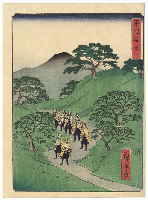Minakuchi by Hiroshige II (1826 - 1869)