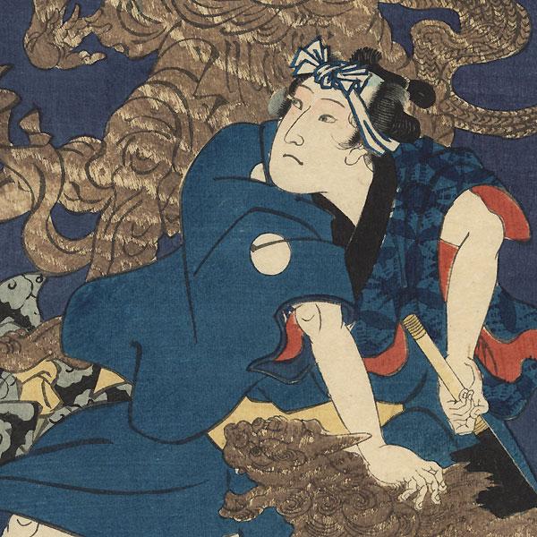 Akashi, Chapter 13: Hidari Jingoro, 1864 by Yoshiiku (1833 - 1904)