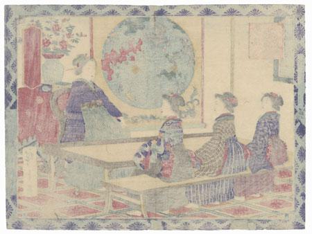 Women Attending School by Hiroshige III (1843 - 1894)