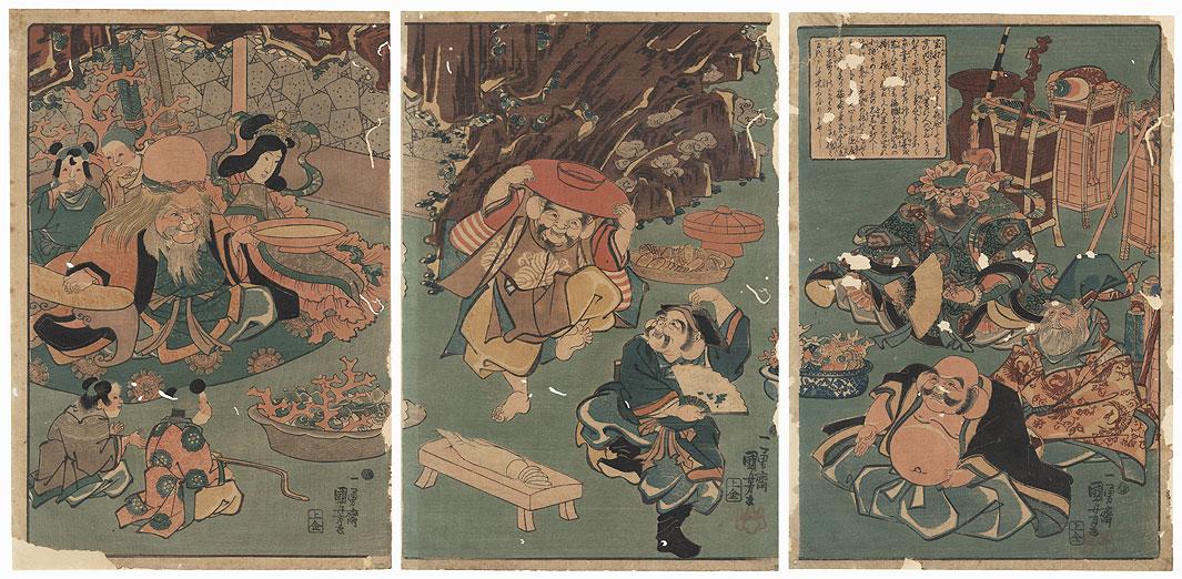 The Seven Lucky Gods by Kuniyoshi (1797 - 1861)
