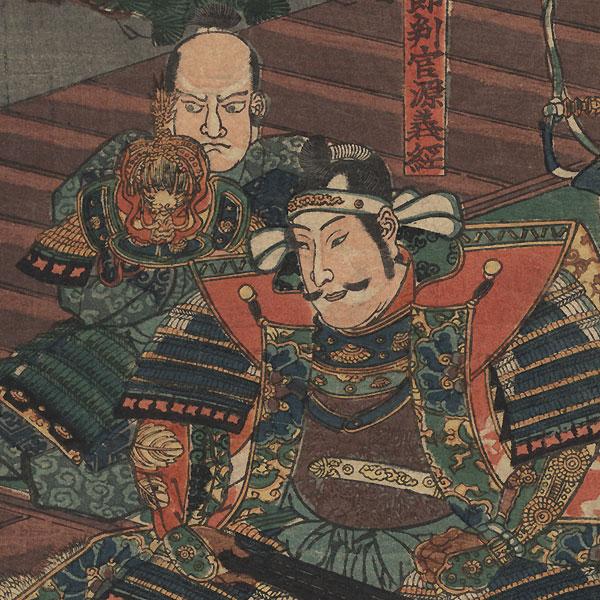 The Night Attack at Horikawa, 1852 by Kuniyoshi (1797 - 1861)