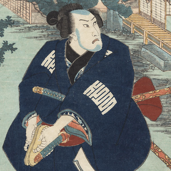 Azumaya (Eastern Cottage), Chapter 50 by Kuniyoshi (1797 - 1861)