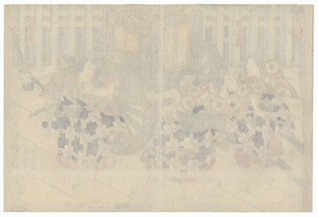 Scene from Sugawara Denju Tenarai Kagami by Toyokuni III/Kunisada (1786 - 1864)