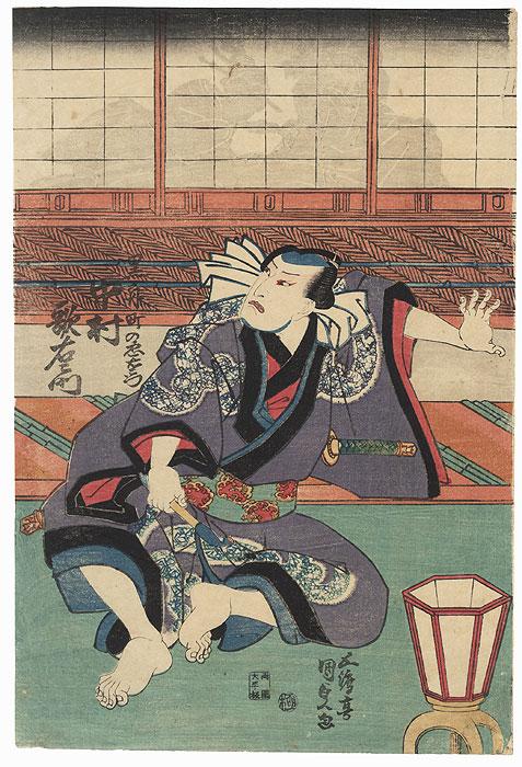 Nakamura Utaemon as Kurofune Chuemon by Toyokuni III/Kunisada (1786 - 1864)