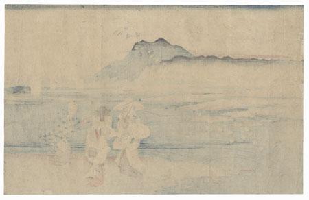 The Noda Jewel River in Mutsu Province by Hiroshige (1797 - 1858)