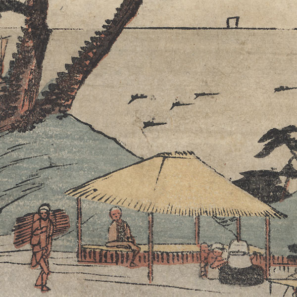 Shirasuka: View of Shiomizaka by Hiroshige (1797 - 1858)