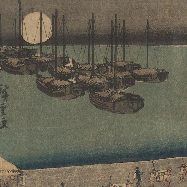 Moon at Takanawa, circa 1839 - 1842 by Hiroshige (1797 - 1858)